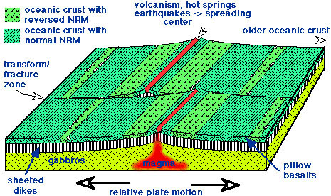 Earthquakes and plate tectonics for Ocean floor zones diagram